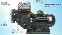 画像1: SANSO 50PSPZ-15033A-E3  自吸式ヒューガルポンプ 樹脂製 海水用 屋外仕様 三相200V 50Hz 三相電機