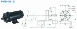 画像1: SANSO PMD-581B2M PMDマグネットポンプケミカル海水用 単相100V 50/60Hz 三相電機