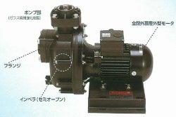 画像1: SANSO 40PSPZ-4033A  自吸式ヒューガルポンプ 樹脂製 海水用 屋外仕様 三相200V 50Hz 三相電機