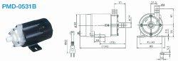 画像1: SANSO PMD-0531B2B2 PMDマグネットポンプケミカル海水用 単相100V 50/60Hz 三相電機