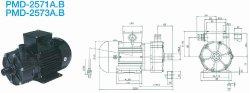 画像1: SANSO PMD-2571A2V PMDマグネットポンプケミカル海水用 単相100V 50Hz 三相電機