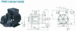 画像1: SANSO PMD-1563B2V  PMDマグネットポンプケミカル海水用 三相200V 50/60Hz 三相電機