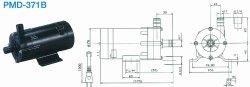 画像1: SANSO PMD-371B2M PMDマグネットポンプケミカル海水用 単相100V 50/60Hz 三相電機