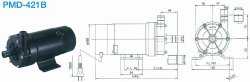 画像1: SANSO PMD-421B2M PMDマグネットポンプケミカル海水用 単相100V 50/60Hz 三相電機