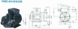 画像1: SANSO PMD-641B2V PMDマグネットポンプケミカル海水用 単相100V 50/60Hz 三相電機