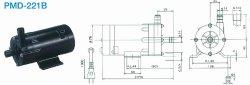 画像1: SANSO PMD-221B2M PMDマグネットポンプケミカル海水用 単相100V 50/60Hz 三相電機